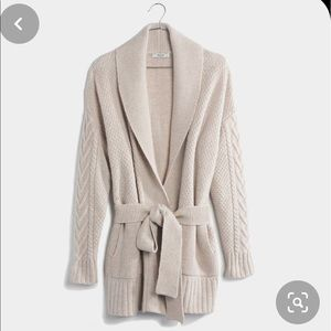 Madewell belted knit cardigan, size XS